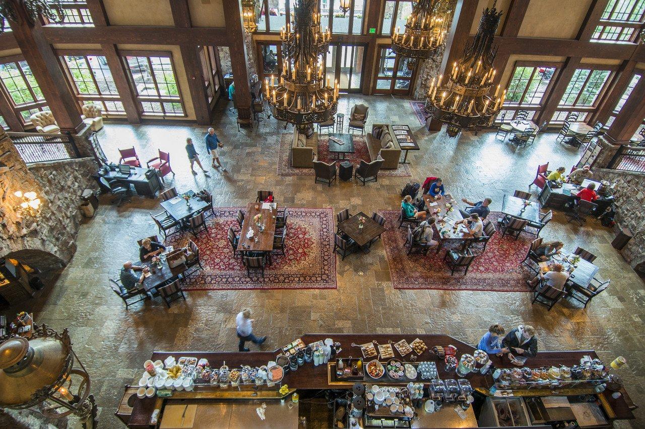 Breakfast in the Warren Miller Lodge.  The Yellowstone Club, Big Sky, Montana.  Tony Demin for The Wall Street Journal. CLUB