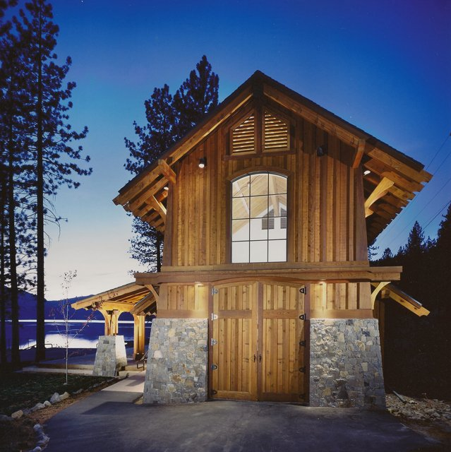 Boathouse at Donner Lake designed by Dale Cox Architects